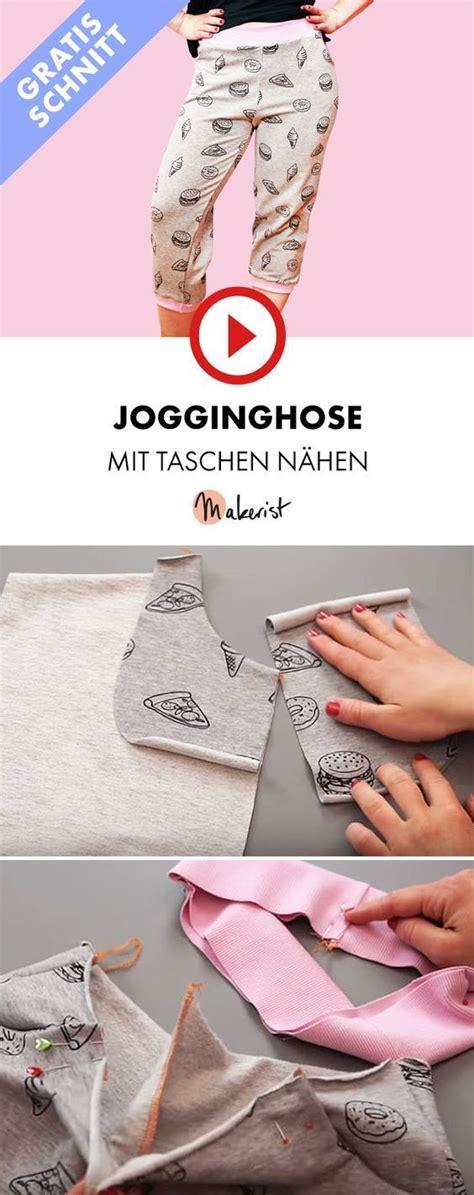 jogginghose aus jersey mit taschen an der overlock n 195 164 hen makerist auf n 195 164 hen n 195