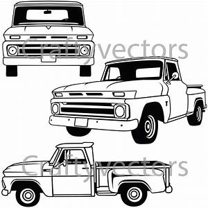 chevy c10 stepside vector file With custom 66 chevy trucks