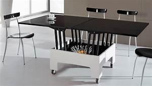 Table à Manger Pliante : tables gain de place free table bar table haute cuisine x x cm with tables gain de place cheap ~ Teatrodelosmanantiales.com Idées de Décoration