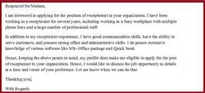Cover Letter For Receptionist Uk The Best Essay Writing