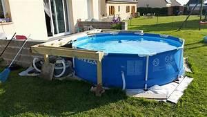 nivremcom fabrication terrasse bois piscine hors sol With petite piscine rectangulaire gonflable 5 nivrem terrasse bois piscine tubulaire diverses