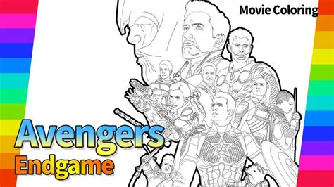 marvel avengers end game the movie poster draw super