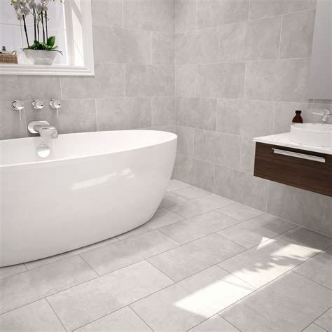urban cement grey ceramic wall floor tile pack