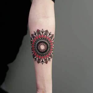 Mandala Tattoo Unterarm : 1001 ideen und bilder zum thema totenkopf tattoo ~ Frokenaadalensverden.com Haus und Dekorationen
