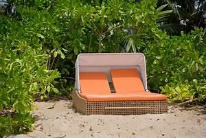 Sonnenliege Für Zwei : doppelliege aus rattan f r zwei personen rattanliegen ~ Buech-reservation.com Haus und Dekorationen