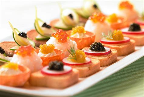 canapes finger food caviar apps by seedling catering