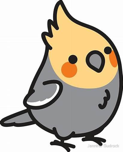 Cockatiel Clipart Stickers Kawaii Chubby Sticker Drawing