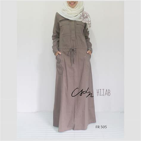 Harga Gamis Merk Le Couture gamis katun model parka warna coklat merk le couture kode