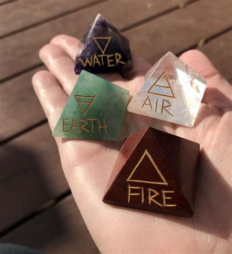 elemental direction pyramids earth air fire water