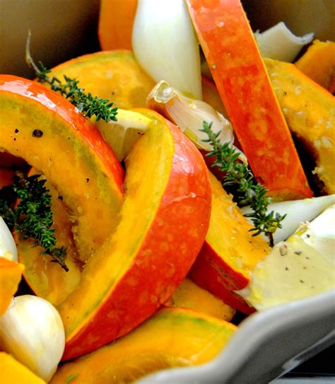 cuisiner du potimarron potimarron rôti au four recette de ezgulian
