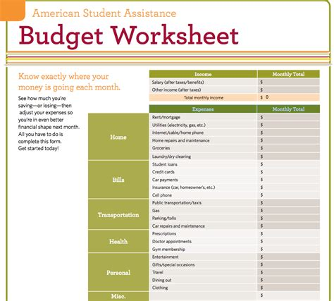 budgeting worksheet 9 useful budget worksheets that are 100 free
