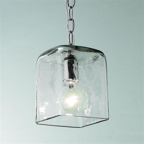 small square glass pendant light