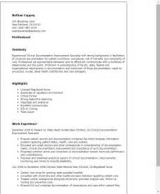 professional clinical documentation improvement specialist templates to showcase your talent