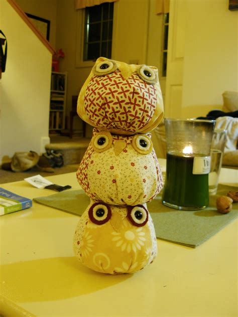 woven home sewing projects owls