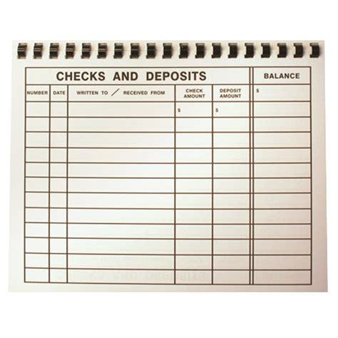 "Large Print 8½"" x 11"" Check Register - Vision Forward"