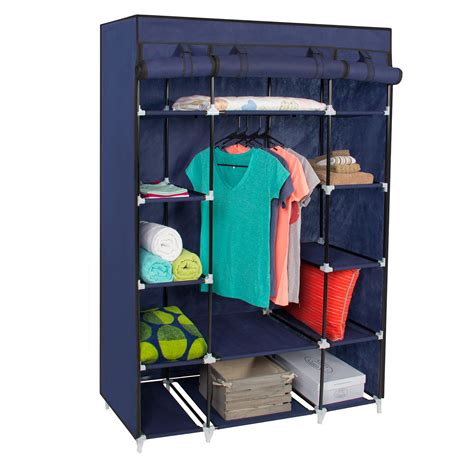 Portable Closet Rack by Portable Closet Storage Cube Shelve System Hanging With
