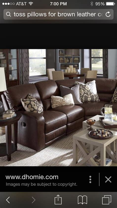 Throw Pillow ideas for leather couch