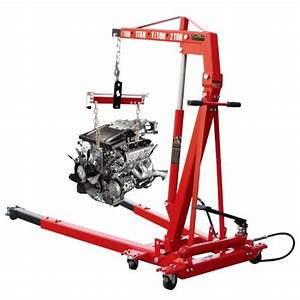 Torin T32002e Engine Hoist With Leveler And Ram - 2 Ton Capacity
