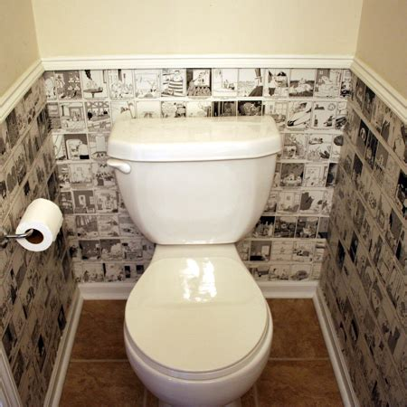 bathroom wall covering ideas home dzine bathrooms wallpaper for a guest toilet