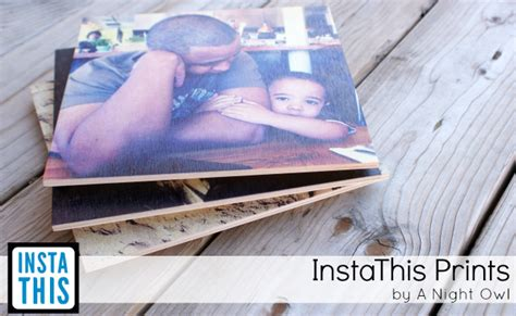 instathis instagram prints  wood acrylic  night