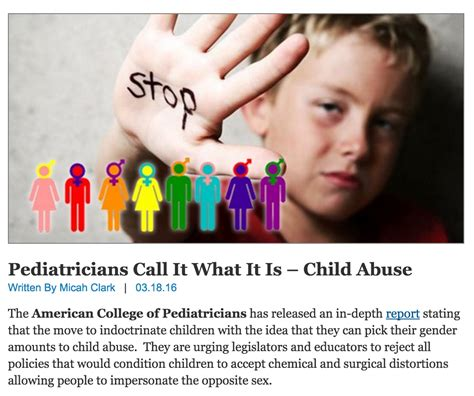 College Liberal Meme Identity - sham pediatric group allowing kids to choose their gender amounts to child abuse friendly