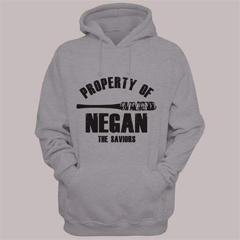 the walking dead property of negan negan lucille hoodie