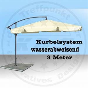 Grosser Sonnenschirm Mit Kurbel : gro er metall ampelschirm gartenschirm beige 3 m sonnenschirm mit kurbel schirm ebay ~ Bigdaddyawards.com Haus und Dekorationen