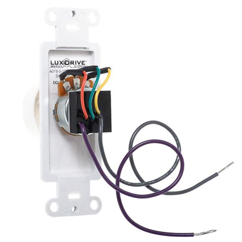 0 10 volt dc low voltage dimmer with rotary dimmer switch