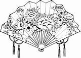Fan Japanese Drawing Tattoo Drawings Tattoos Culture Tradition Japan Sketches Designs Coloring Rich Colors Steeped Flower Traditional Example Google Geisha sketch template
