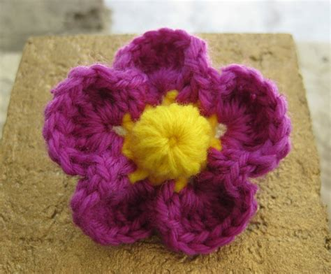 Crochet And Other Stuff Tropical Flower Pin Free