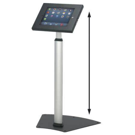 ipad kiosk table mount black extendable secure ipad floor stand p n 11147
