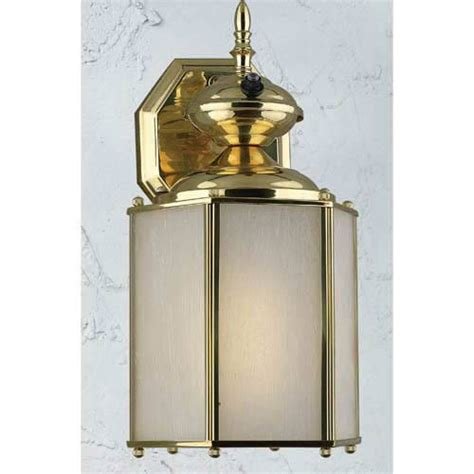 polished brass fluorescent outdoor wall mount with