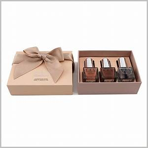 3 bottles of nail gift boxes packaging makeup boxes