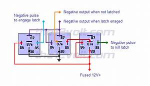 Latched On  Off Output Using Two Momentary Negative Pulses