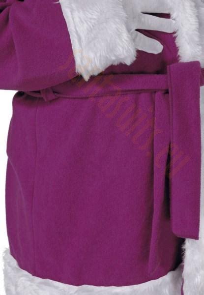 purple santa suit jacket trousers and hat santa suits