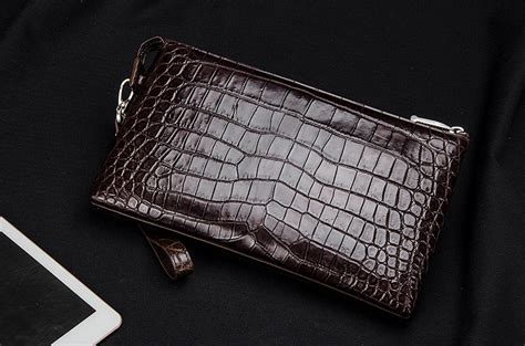 Men Alligator Clutch Wallet Business Zipper Long Card Interactive Virtual Business Card Uv Mockup Free Leather Bi Fold Wallet Double Sided Template Word Reply Uses Vector Files Order Cards Online Us Bank Change Form
