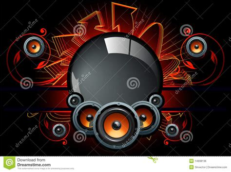 Comp Backgrounds Speaker Comp In Background Stock Vector