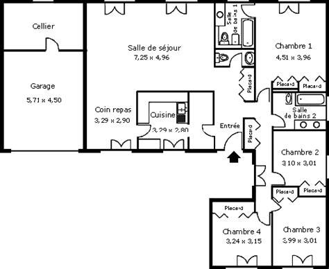 plan 騁age 3 chambres les maisons