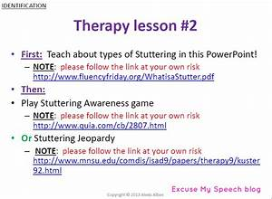 Stuttering Therapy Activities