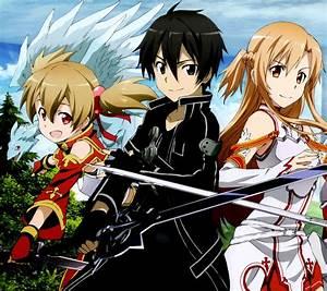Sword Art Online 2 Kirito Asuna Silica.Android wallpaper ...