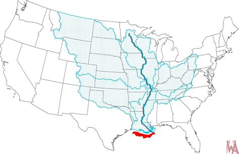 mississippi river map   usa whatsanswer