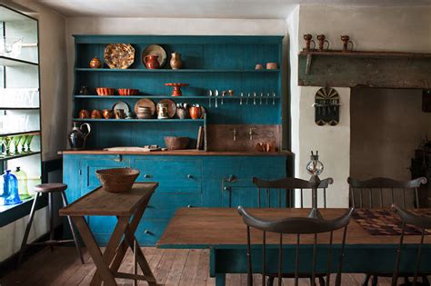 rustic blue paint color rustic vintage teal blue kitchen interiors by color