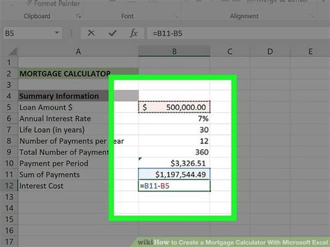 ways  create  mortgage calculator  microsoft excel