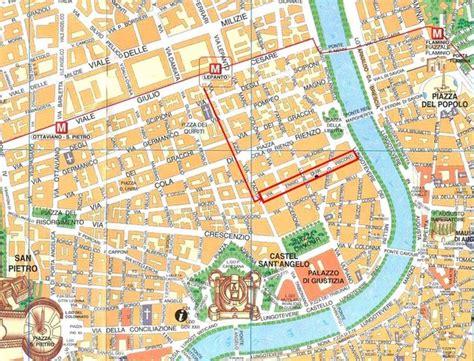 rome city tourist map rome mappery