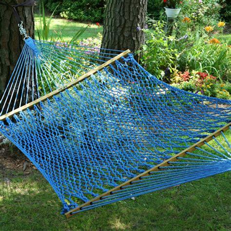 Buy Hammock by Large Original Coastal Blue Duracord Rope Hammock