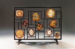 Agate and geode fireplace screen Agate, Geode and Rocking