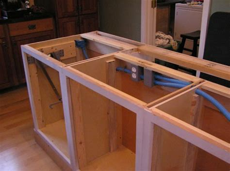how to build kitchen island diy simple rustic kitchen islands fall home decor