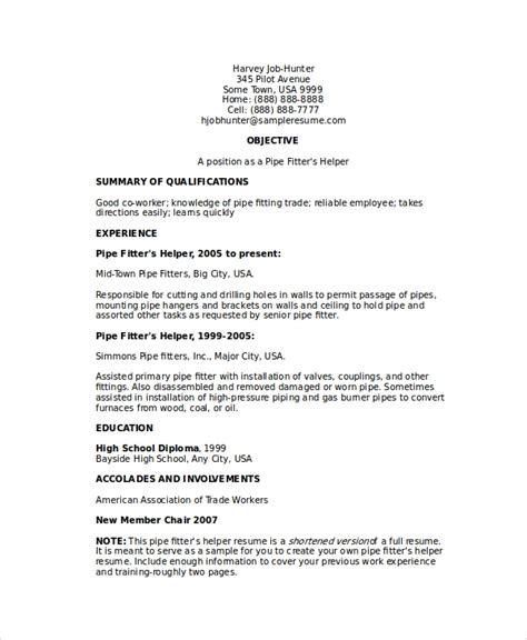 iti fitter resume format best resume gallery