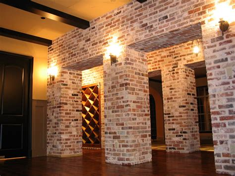 using brick veneer for interior stone concept