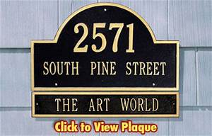Address Plaques made in USA - Custom House Number Signs
